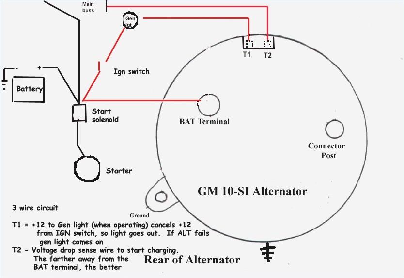 wiring diagram 12 volt alternator wiring gm 10si alternator wiring