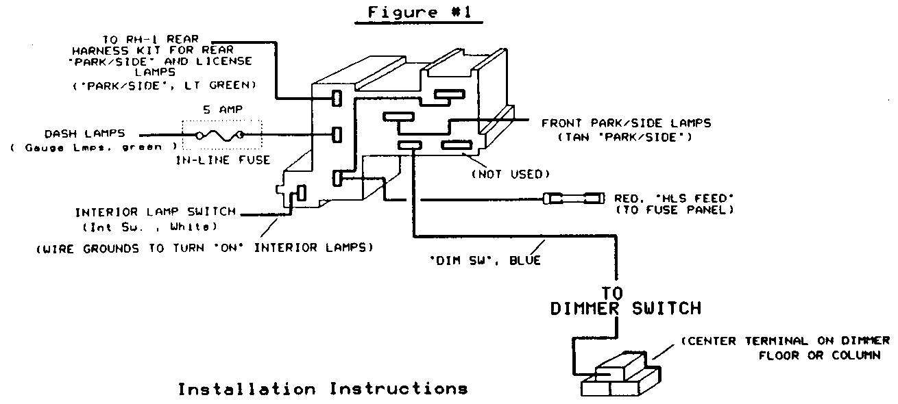 86 chevy headlight wiring diagram