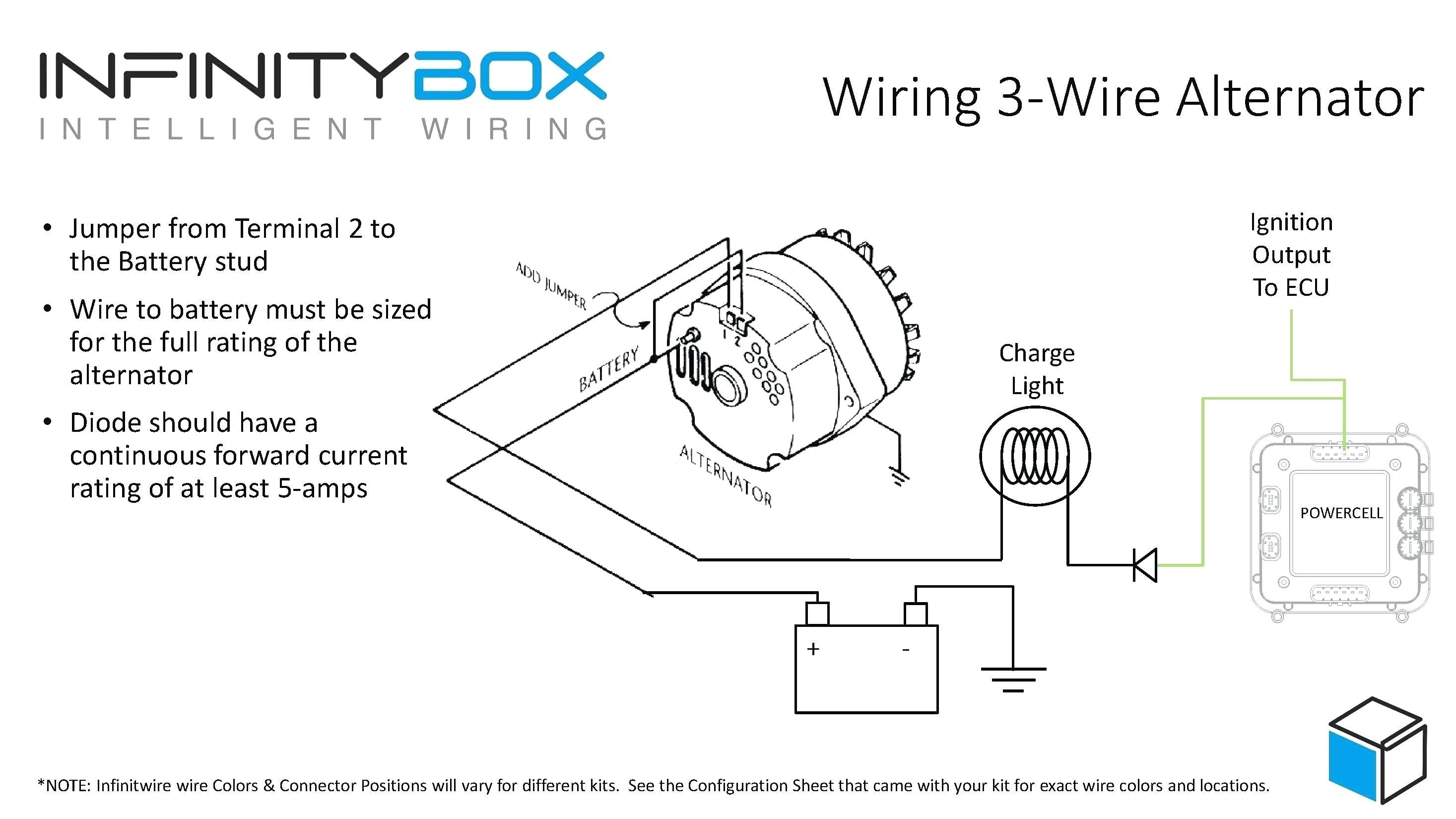 upgrade to 12si 3 wire 94 amp alternator includes wiring schema gm