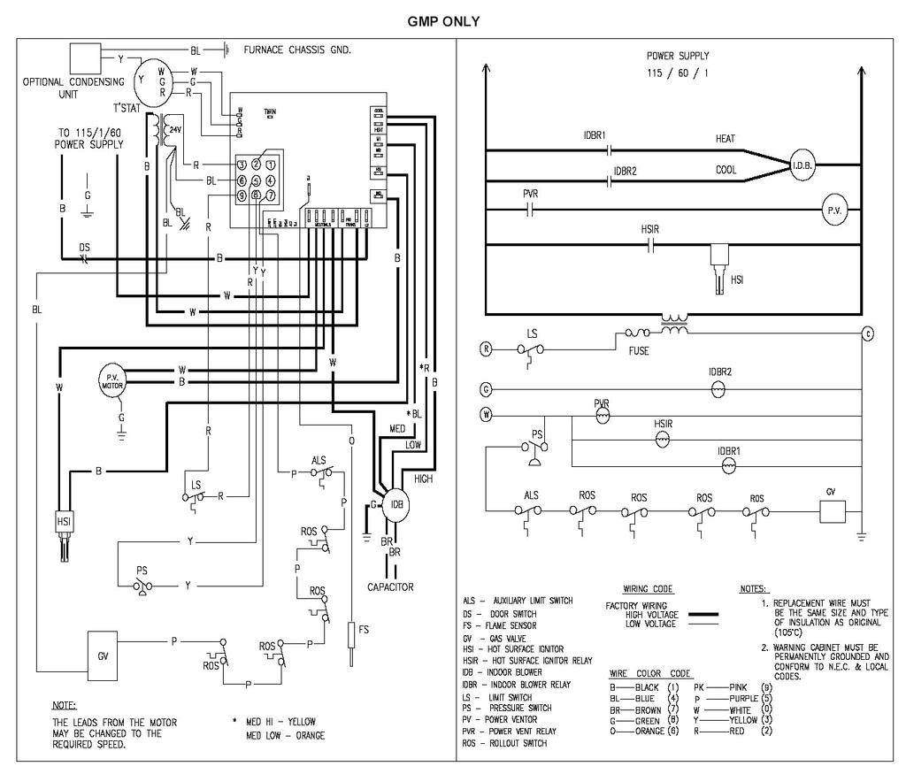 goodman gmp075 3 wiring diagram wiring diagram m6