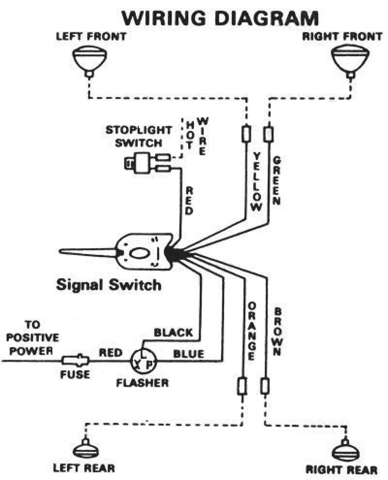 6 wire turn signal diagram wiring diagram operations 6 volt turn signal wiring diagram