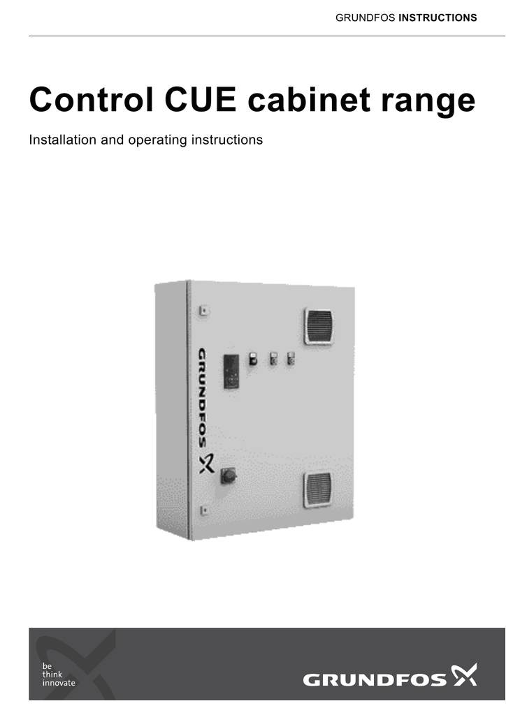 grundfos instructions control cue cabinet range installation and operating instructions english gb english gb installation and operating instructions