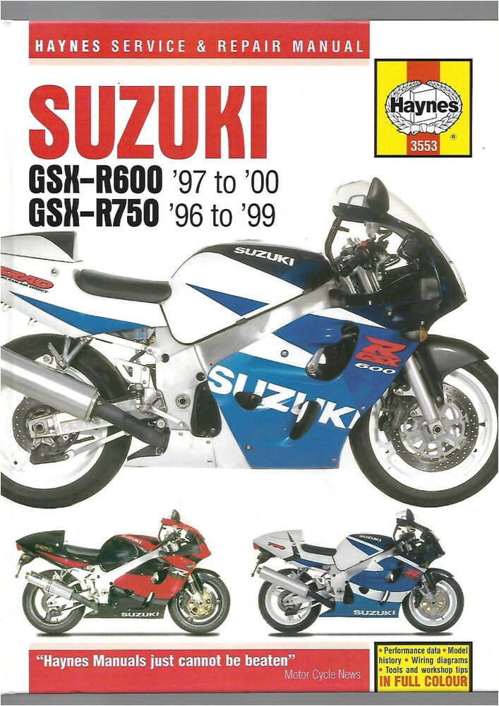 haynes suzuki gsx r600 gsx r750 service and repair manual 600cc 749cc v w x y t suzuki
