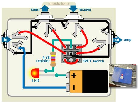 pedal wiring diagrams wiring diagram namewiring diagram guitar pedals effects pedals pinterest guitar diagram bypass pedal
