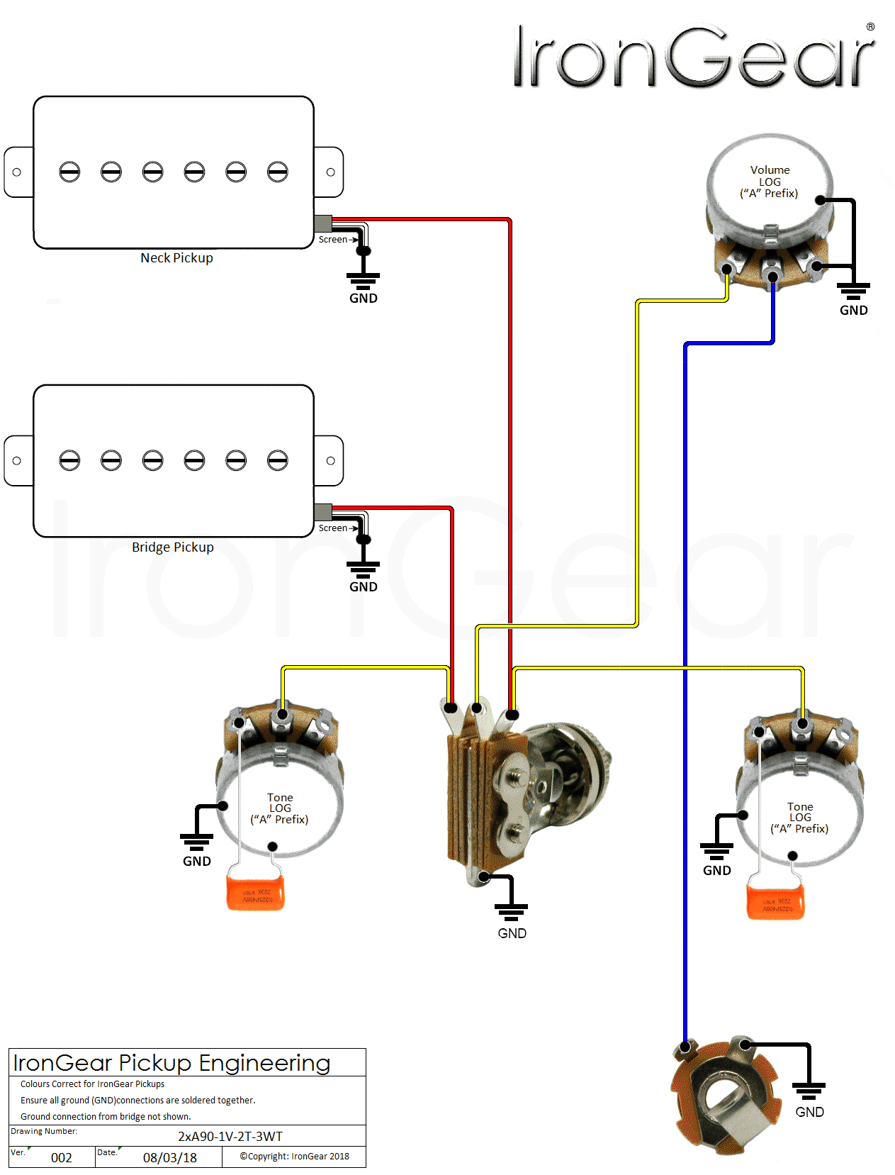 Guitar Wiring Diagrams 2 Pickups 2 Pickup Wiring Diagram Wiring Diagrams Konsult