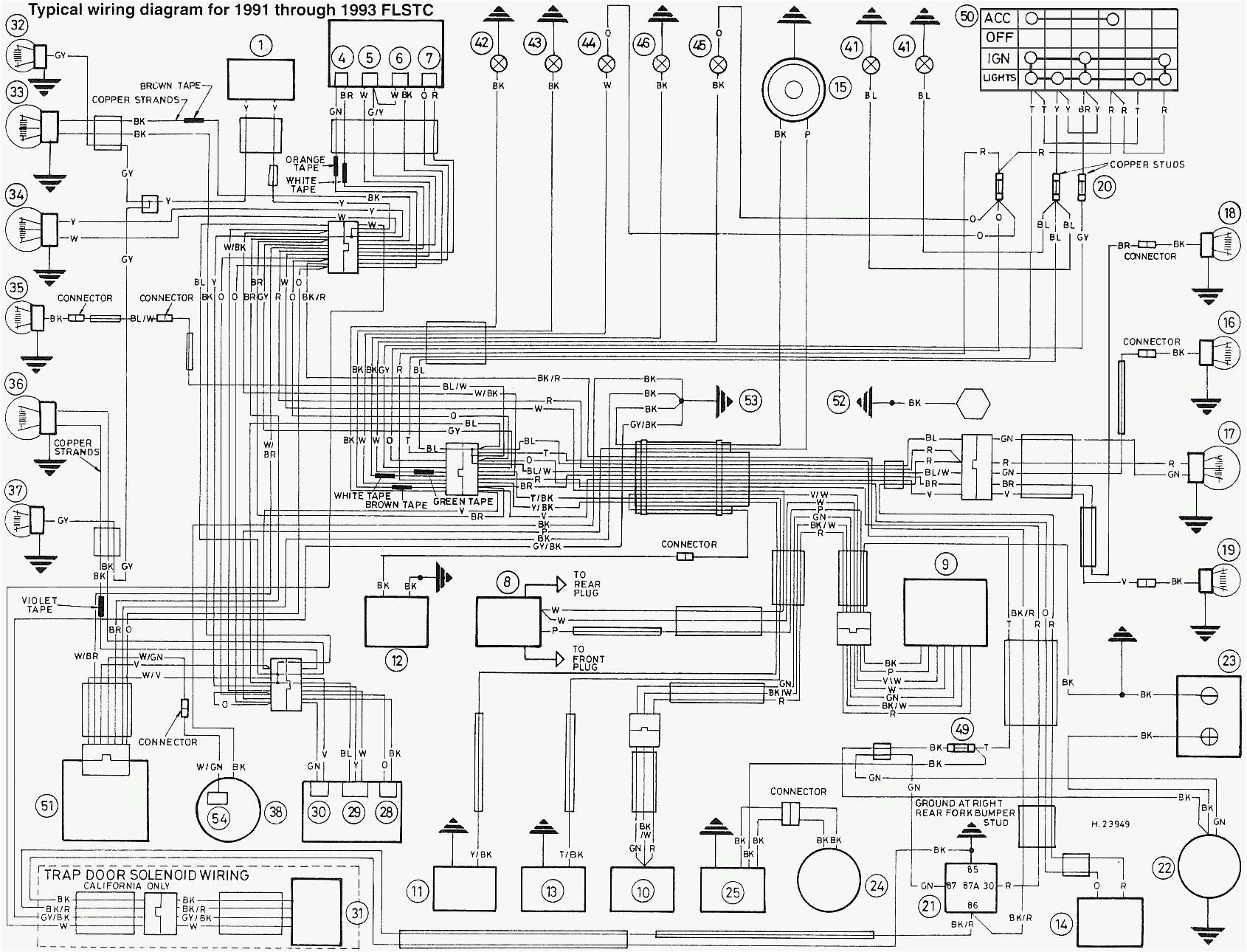 1994 harley davidson wiring diagram wiring diagram option 1994 harley softail wiring diagram 94 harley softail wiring diagram