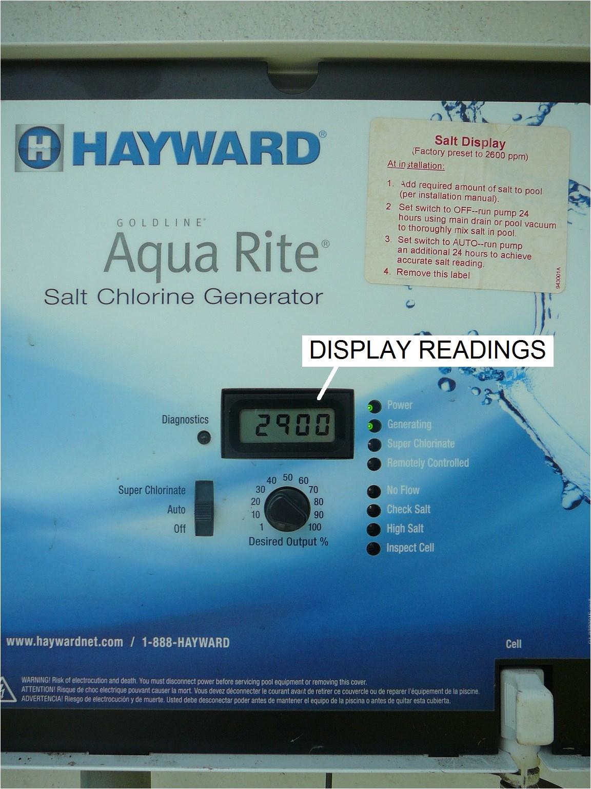 Hayward Aqua Rite Wiring Diagram How to Read and Adjust the Hayward Aqua Rite Scg Operational Values