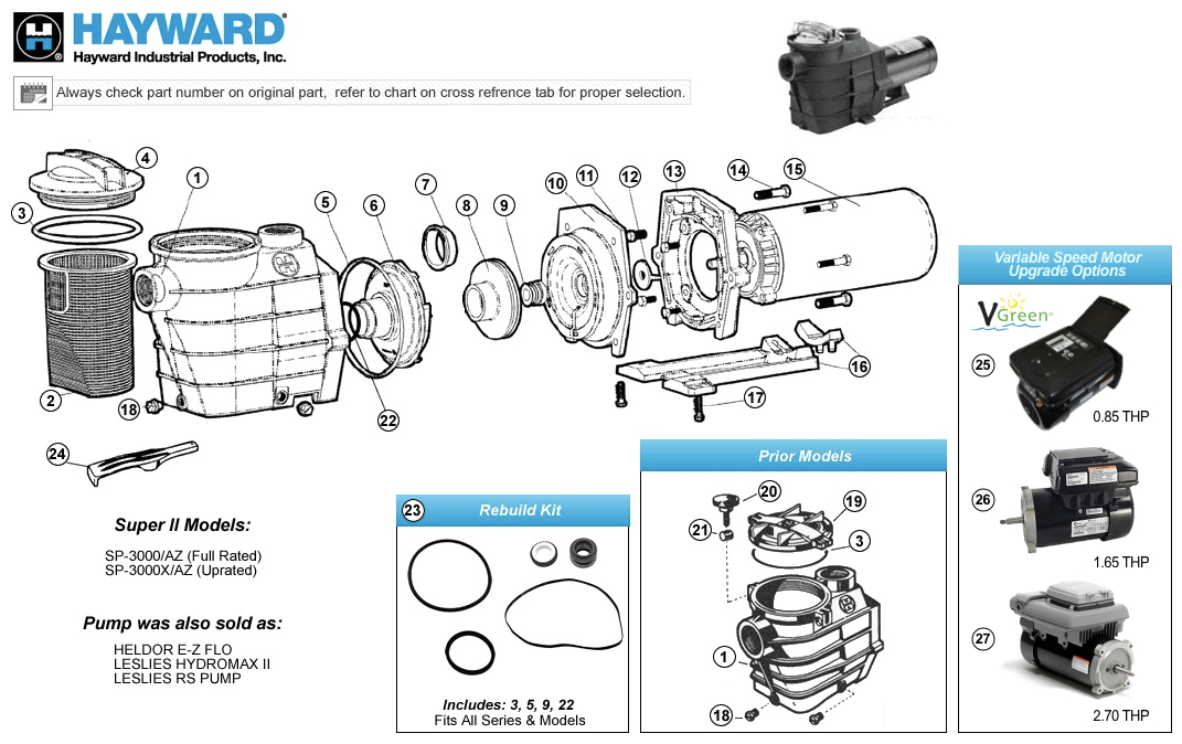 Hayward Super Ii Pump Wiring Diagram Hayward Super Ii Pump Parts