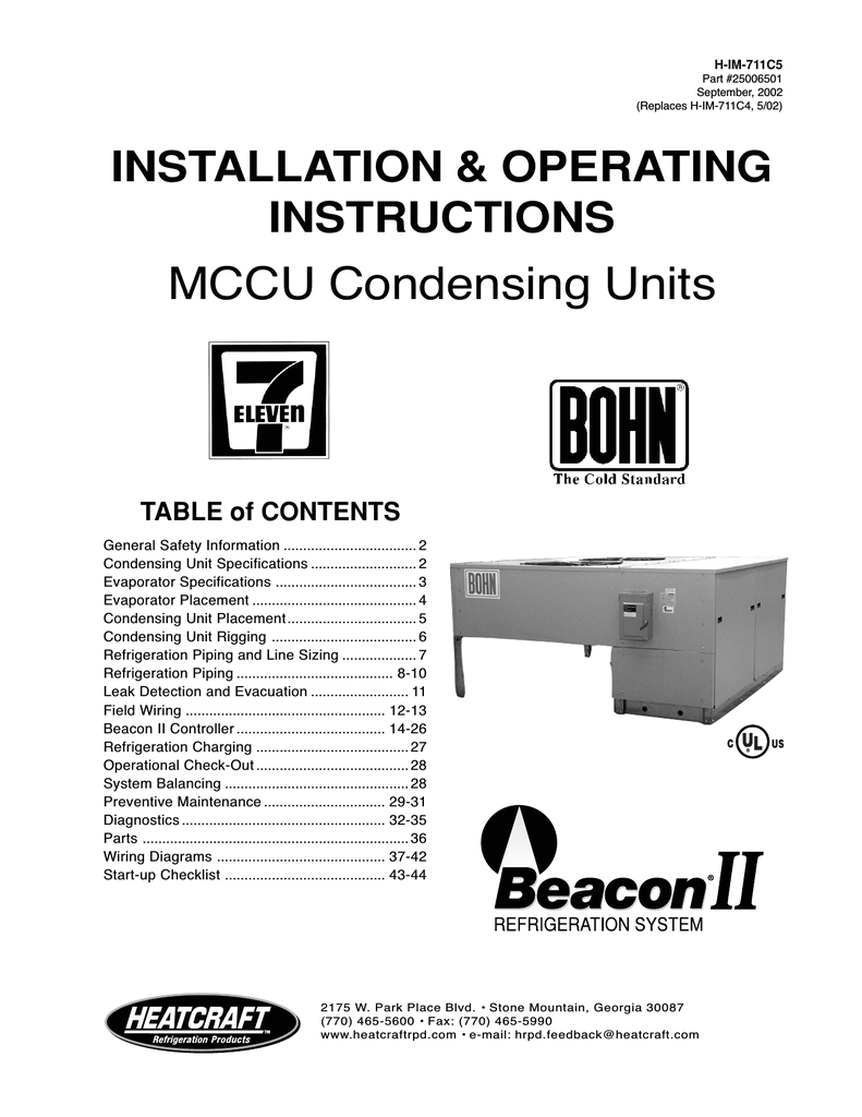 heatcraft refrigeration products ii user s manual