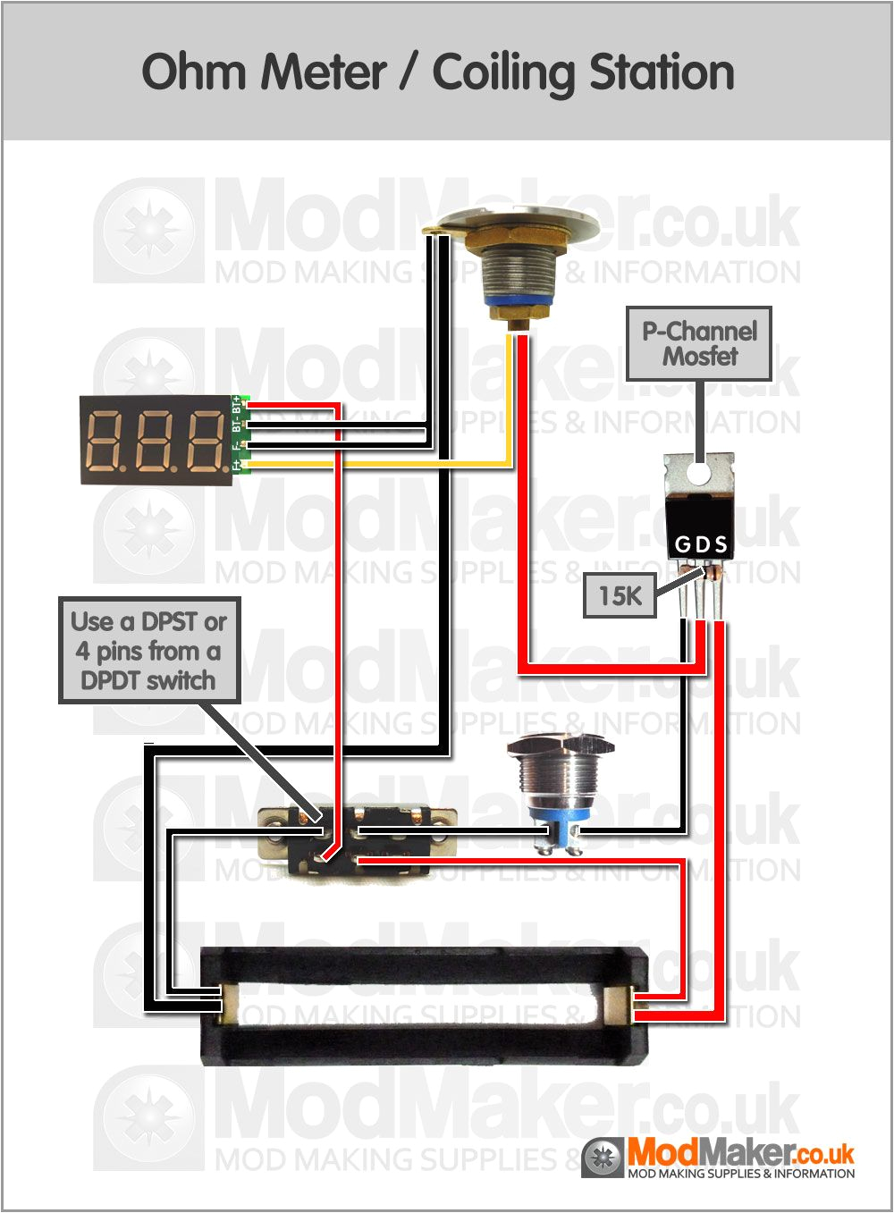 ohm meter coiling station wiring diagram vape in 2019 vape mods mod meter wiring diagram