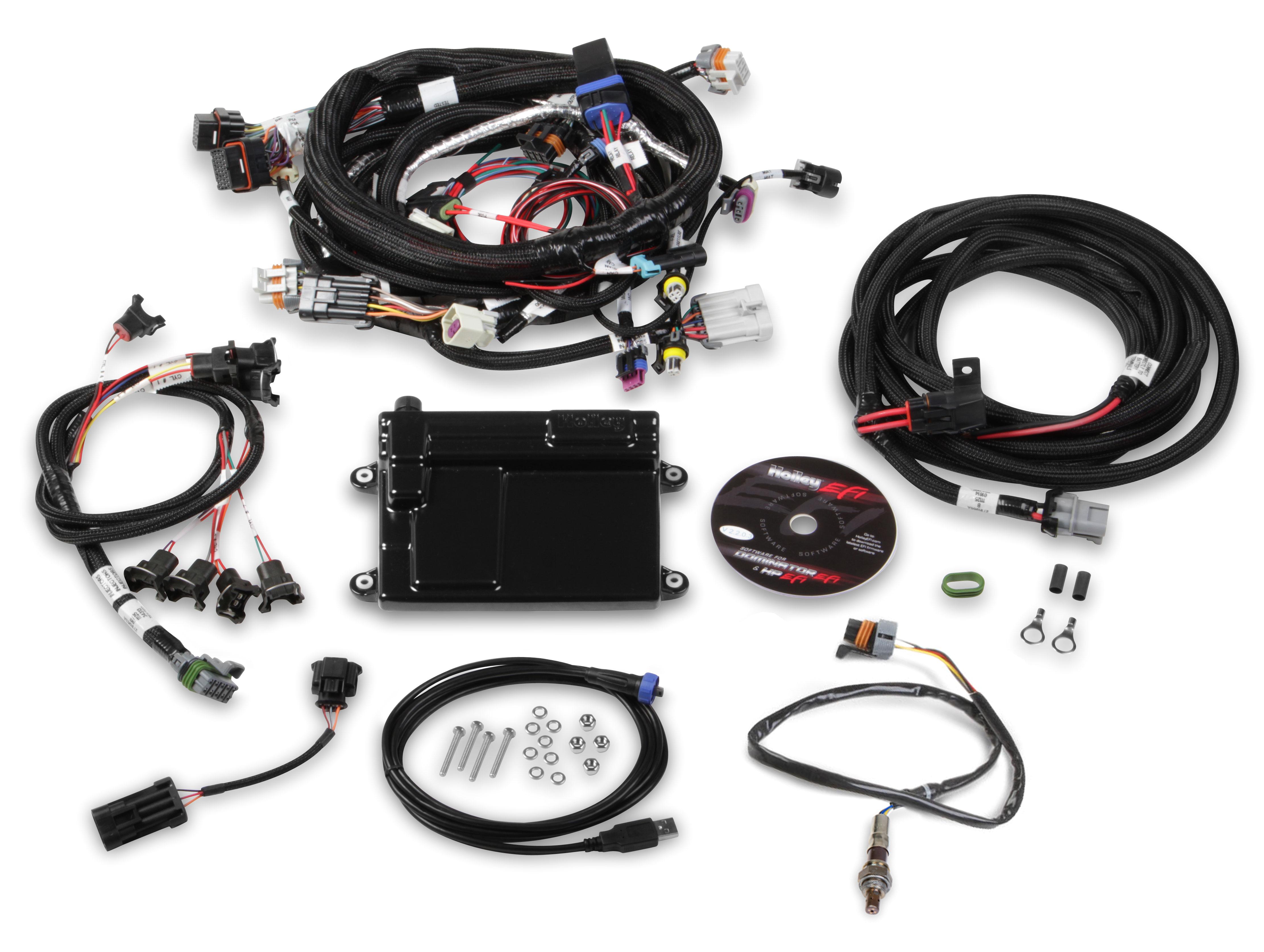 holley gm ls2 3 7 58x crank sensor hp efi ecu u0026 harness
