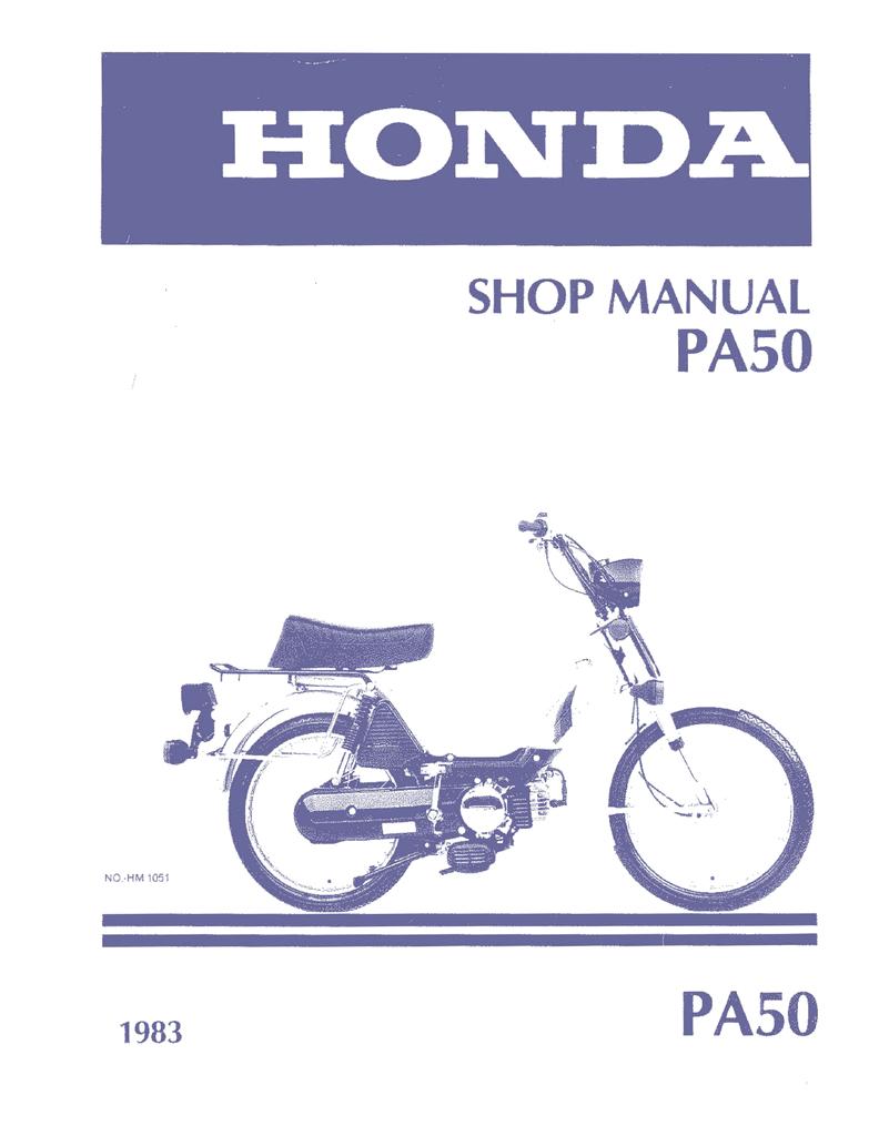 honda hobbit pa50 shop manual