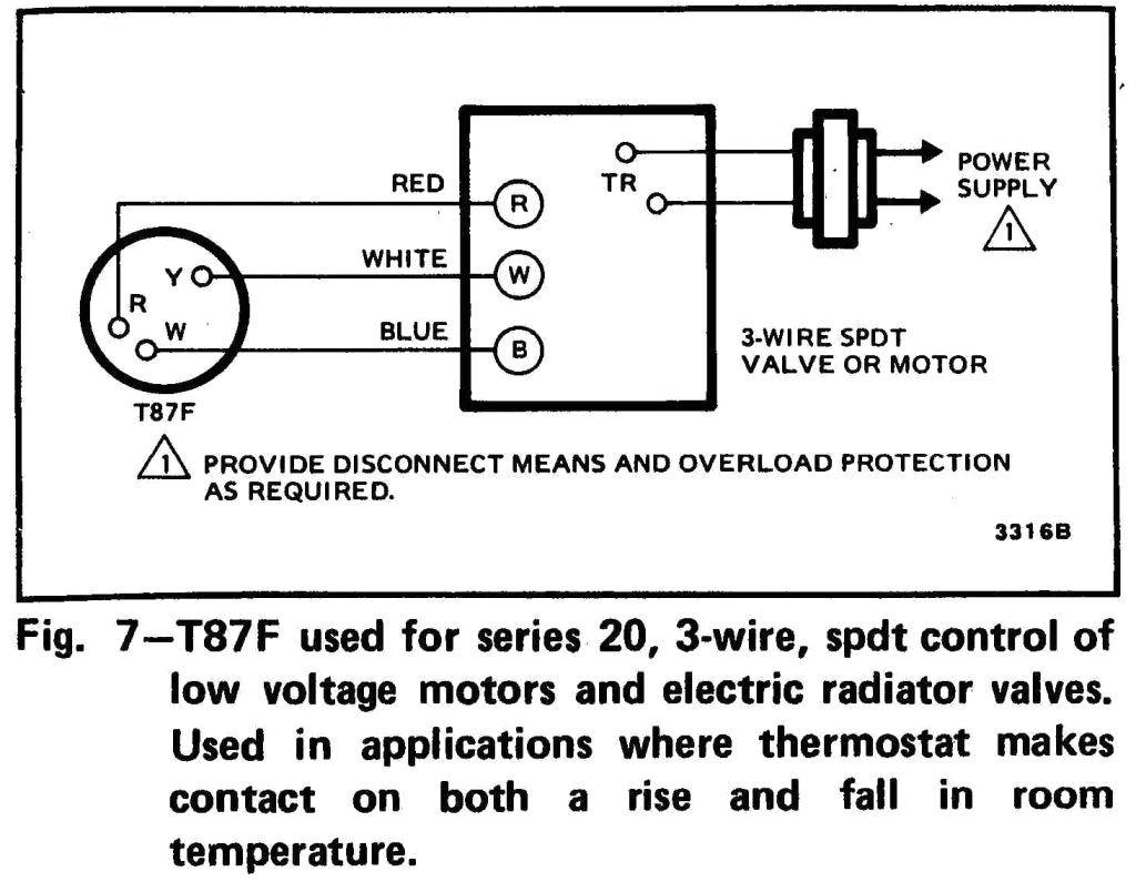honeywell thermostat wiring diagram 3 wire
