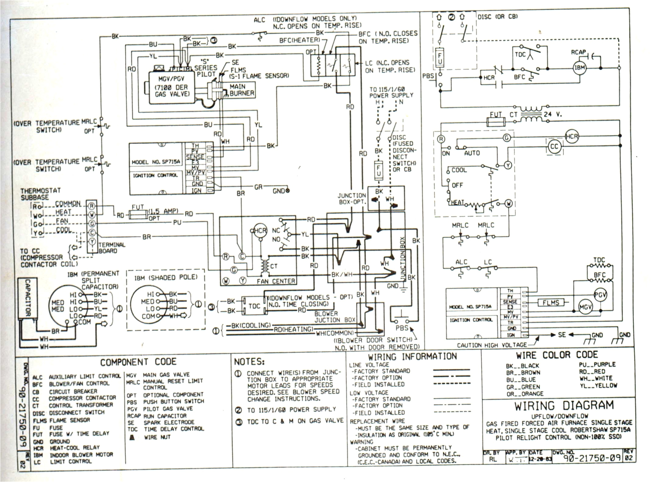 singular heating and cooling thermostat wiring diagram chart 0d honeywell furnace