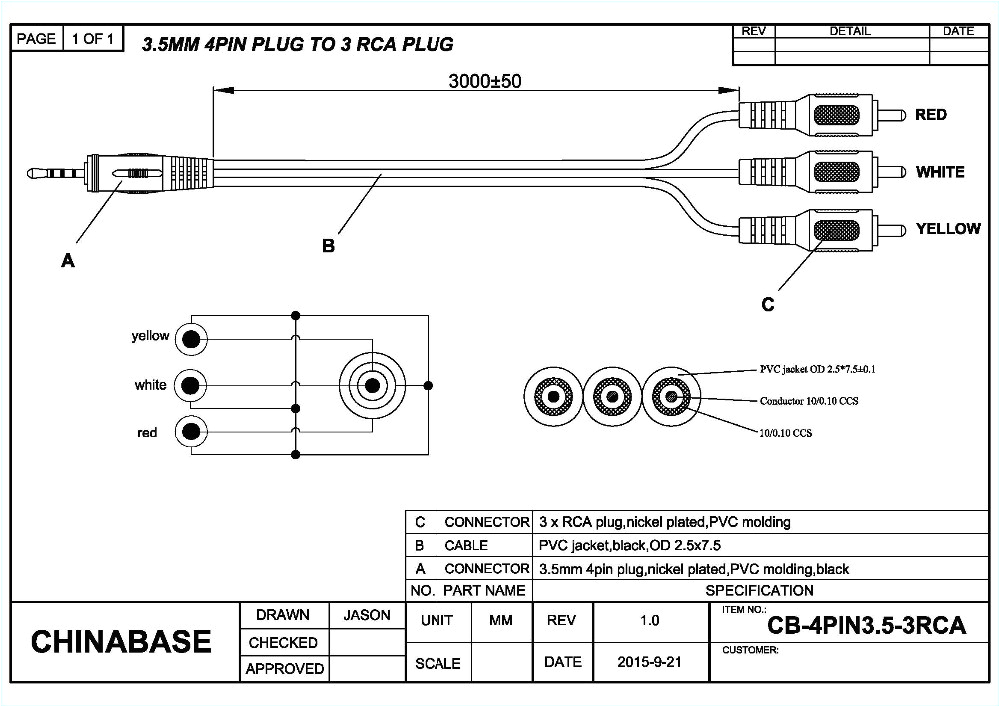 wiring 3 wire mini jack wiring diagram post 3 wire cable diagram