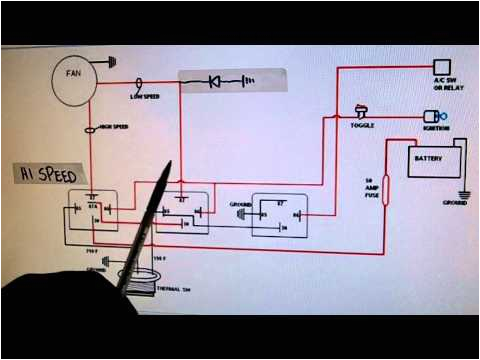 How to Wire Dual Electric Fans Diagram 2 Speed Electric Cooling Fan Wiring Diagram Youtube