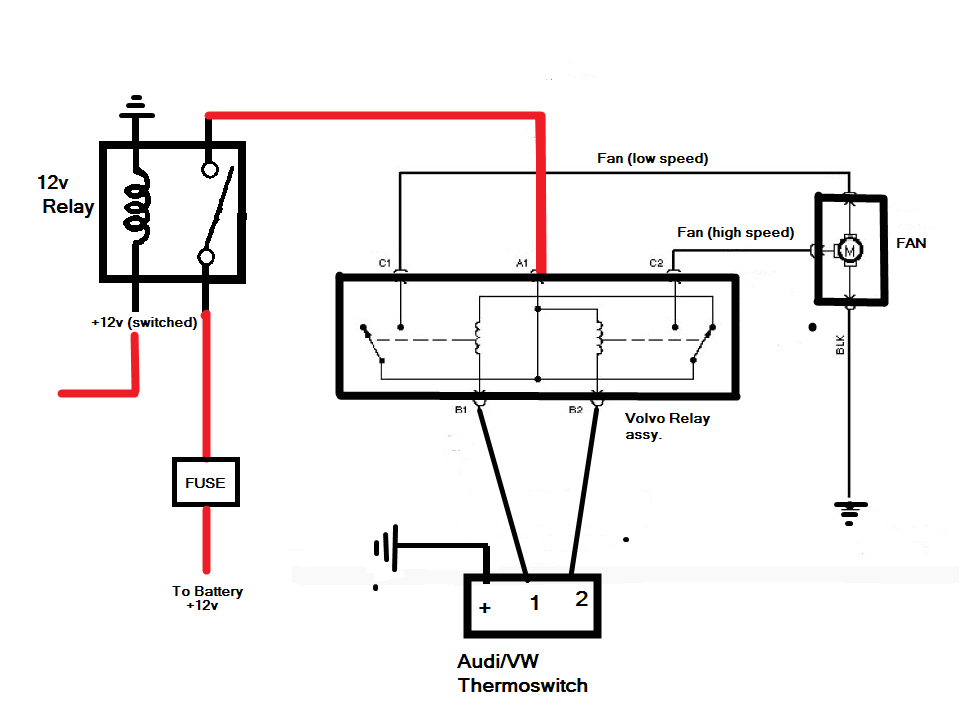 How to Wire Dual Electric Fans Diagram Wiring the Taurus 2 Speed Fan Rx7club Com Mazda Rx7 forum