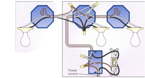 electrical can i wire 3 lights to one switch as illustrated by daisy chain wiring diagrams bulbs