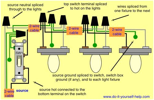 wiring diagram for multiple light fixtures