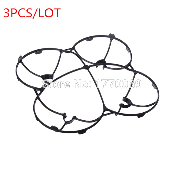 hubsan x4 h107c h107l protection cover 3pcs lots hubsan parts blades propellers guard for v252 jxd385 quadcopter in parts accessories from toys hobbies