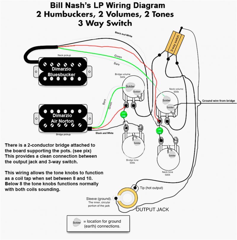 335 pots switch wiring kit for gibson guitar complete with diagram wire diagram gibson wiring diagram