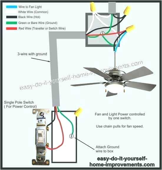 ceiling fan wiring diagram pull switch pole length guide install replacing downrod mount shaded motor hunter