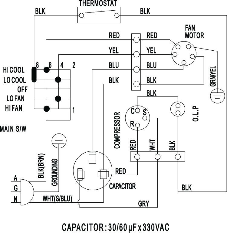 Hvac Wiring Diagrams 101 Window Ac Wiring Wiring Diagram Mega