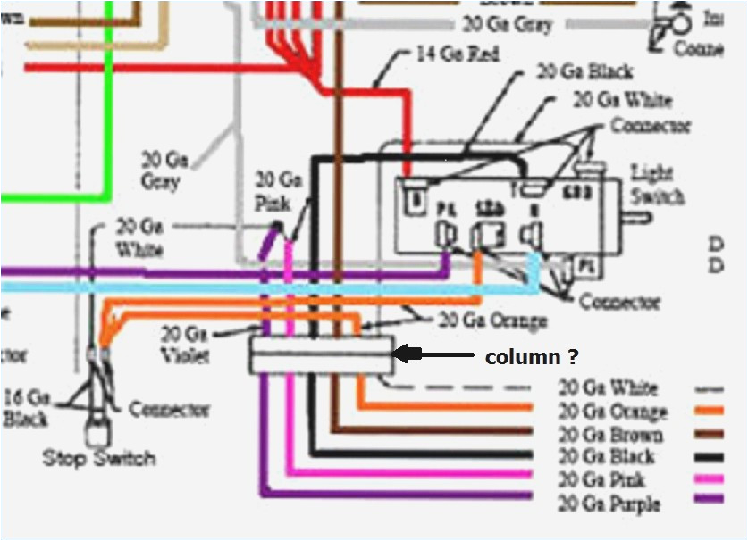 1955 chevy steering column wiring diagram wiring diagrams second