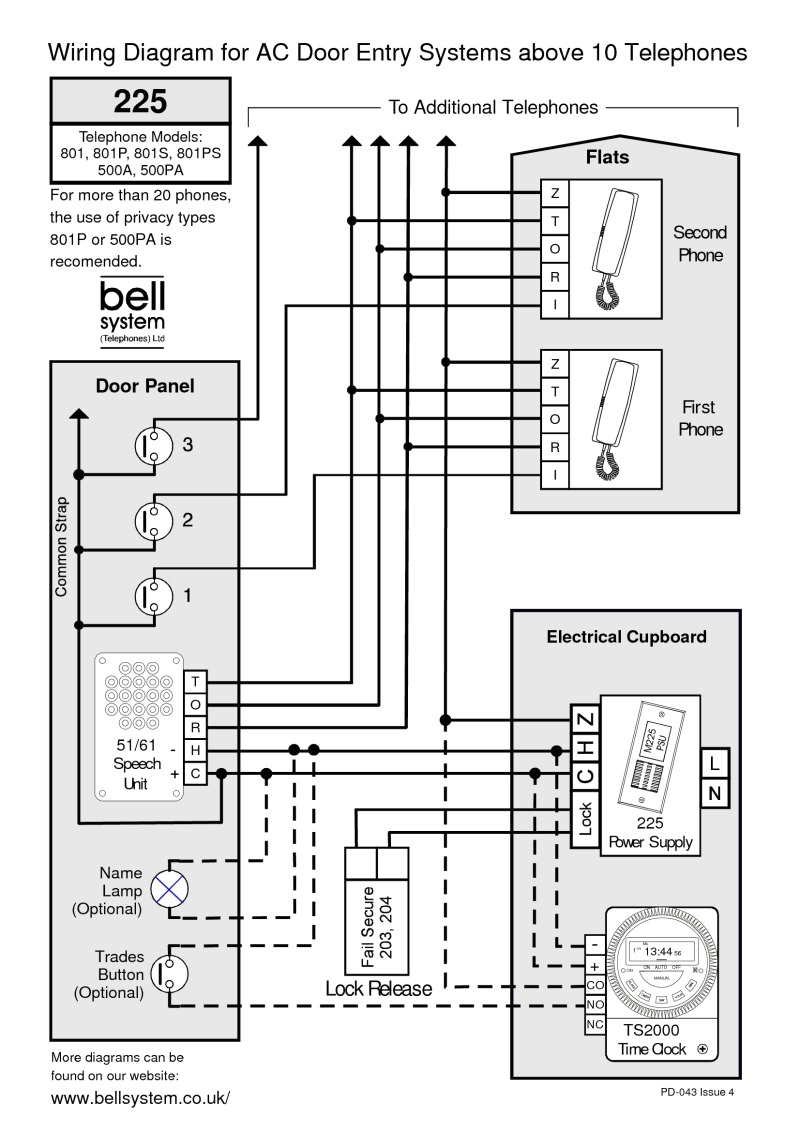 bell wiring diagrams intercom wiring diagram of unit 10