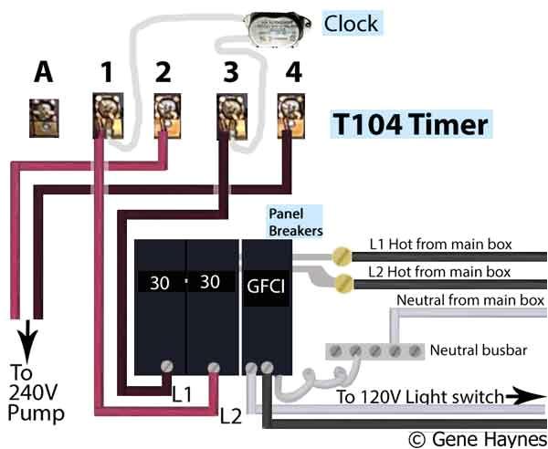 wire intermatic control panel