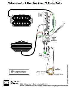 tele wiring diagram 2 humbuckers 2 push pulls guitar parts guitar chords