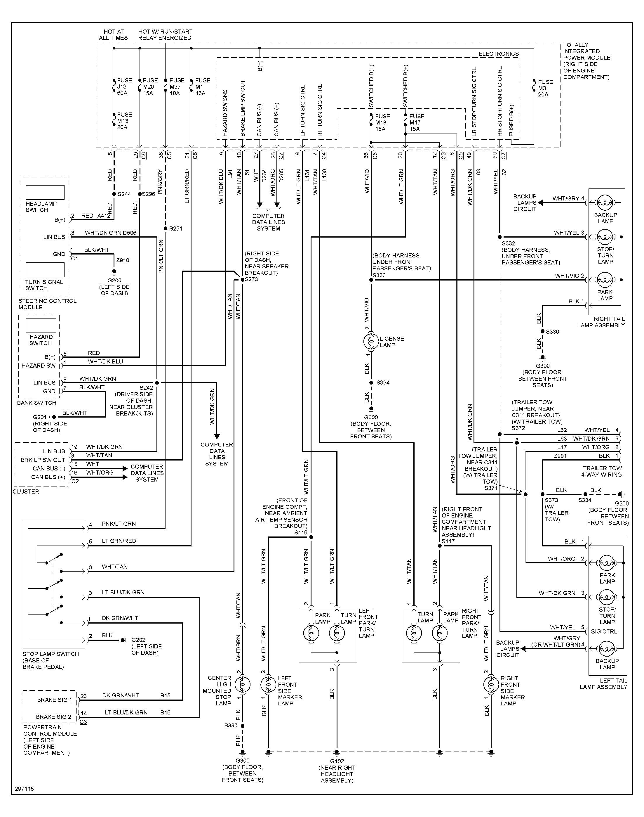 jeep yj brake light wiring diagram