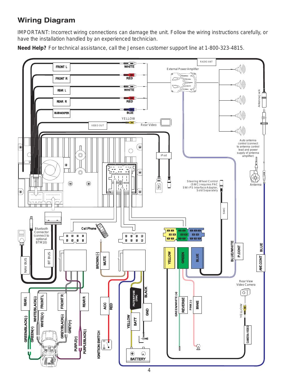wiring diagram jensen vm9224 user manual page 4 12 jensen vx7020 wiring diagram jensen wiring diagram
