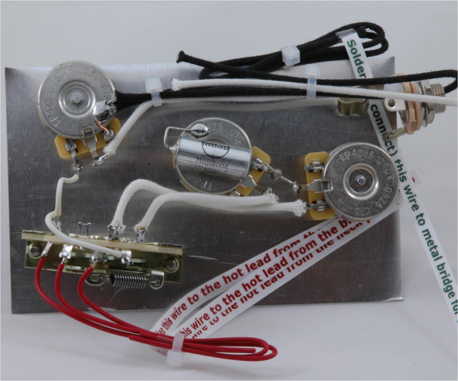stevie ray vaughan model stratocaster wiring harness