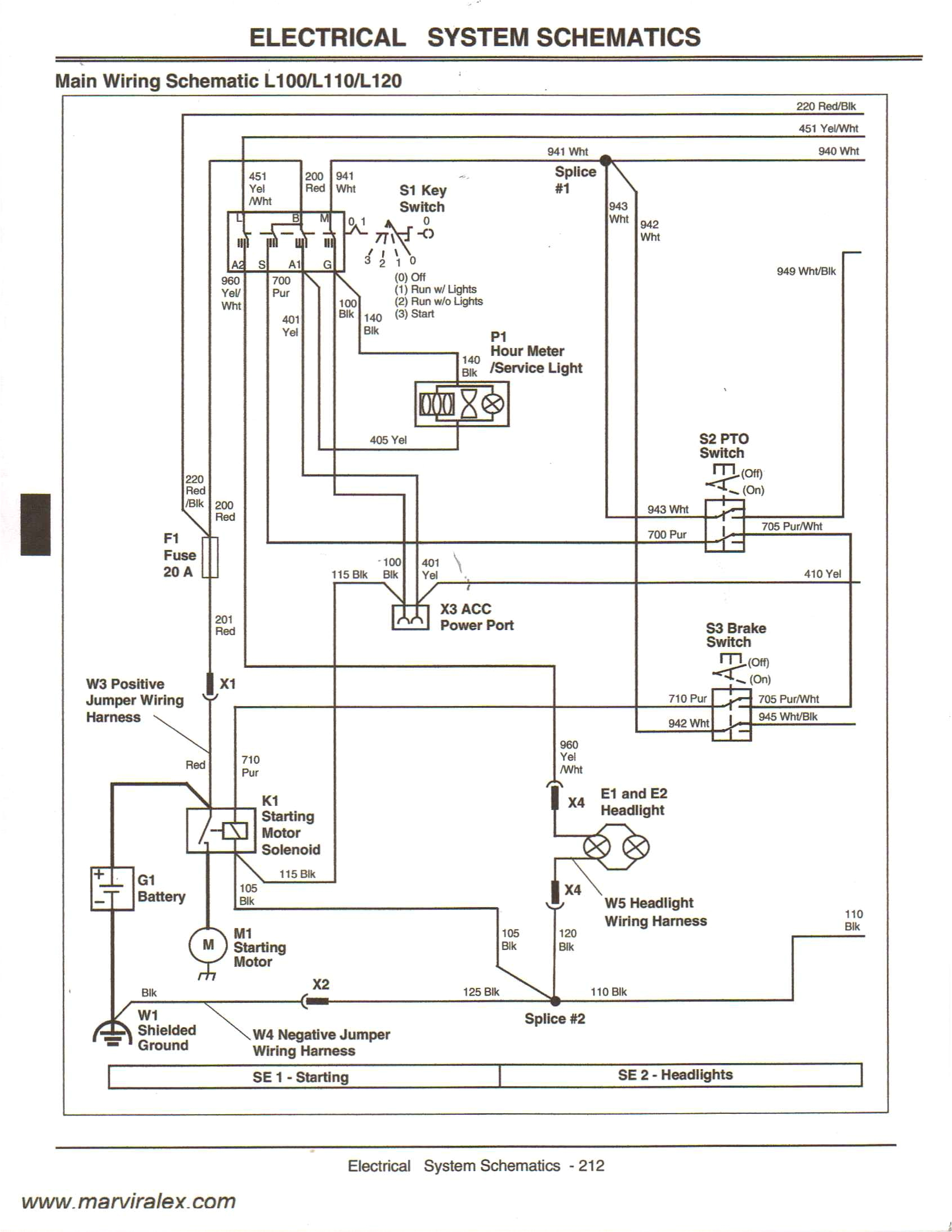 John Deere 111 Lawn Tractor Wiring Diagram Wiring Diagram John Deere Wiring Diagram