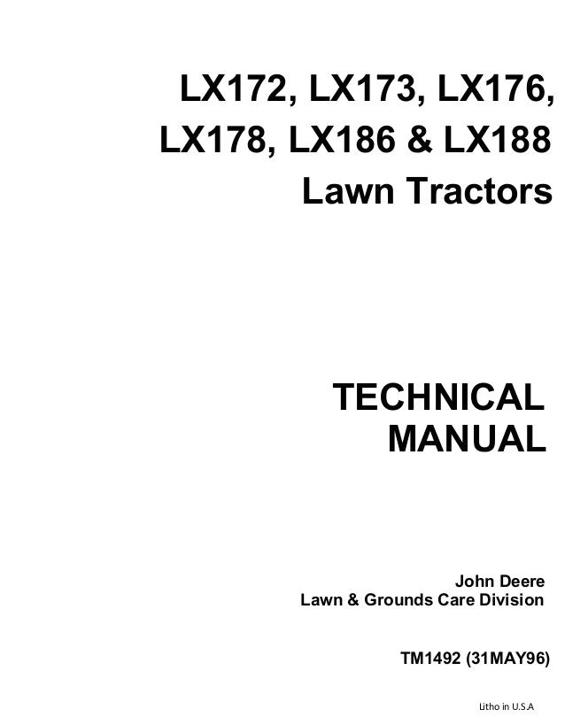 John Deere Lx172 Wiring Diagram John Deere Lx176 Lawn Garden Tractor Service Repair Manual