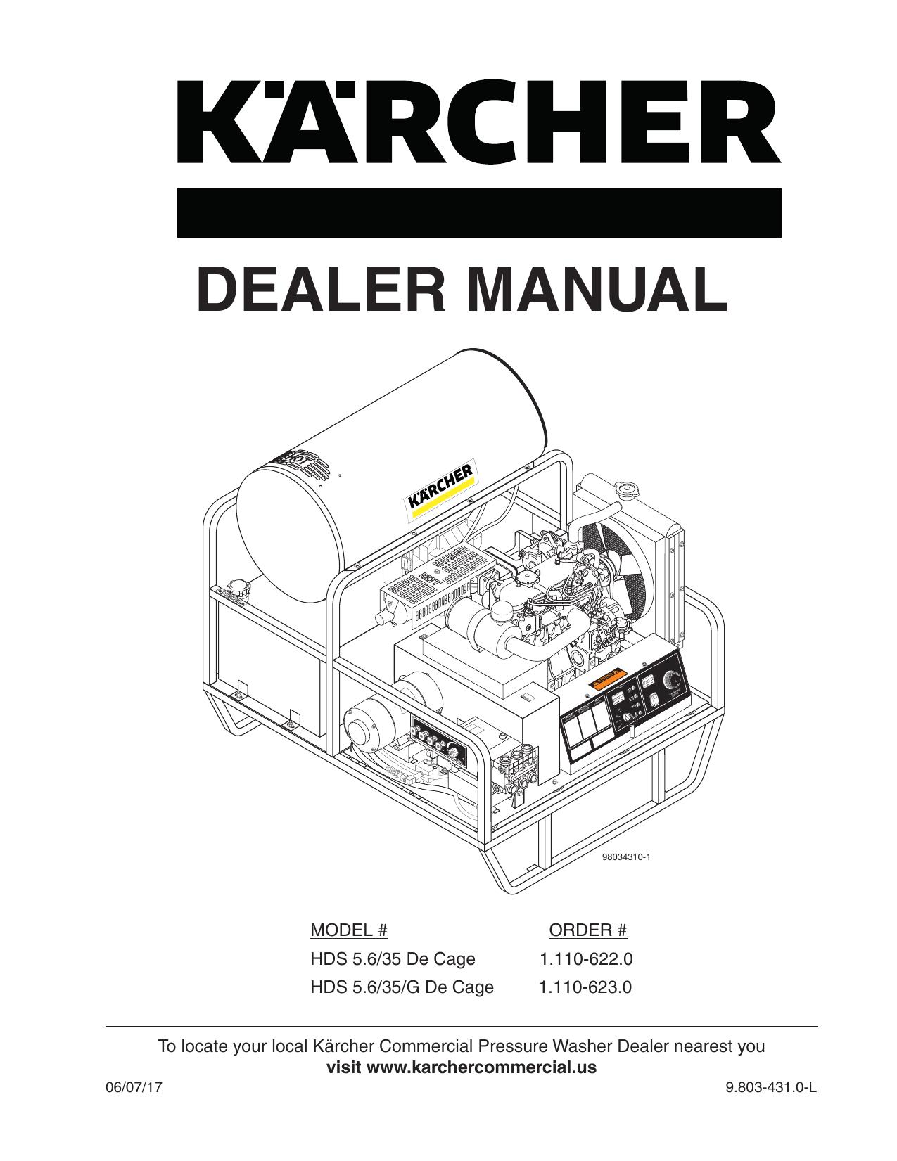 Karcher Pressure Washer Wiring Diagram 9 803 431 0 Manual Dealer Karcher Hds Diesel Indd Manualzz Com