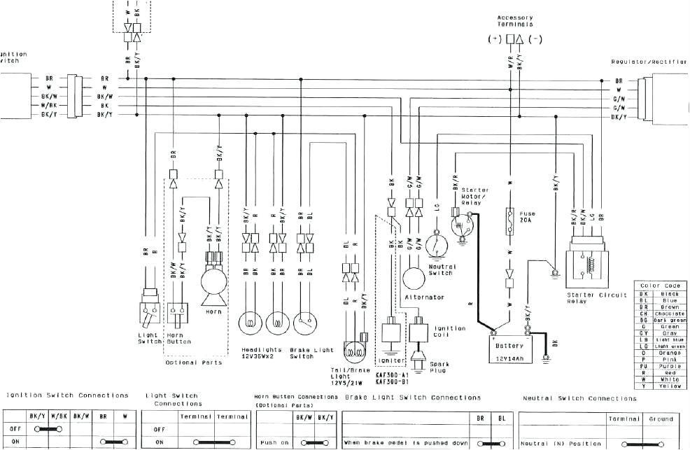 kawasaki bayou 220 wiring diagram bayou klf klf service manual table kawasaki bayou 220 wiring schematic bayou 220 wiring schematic