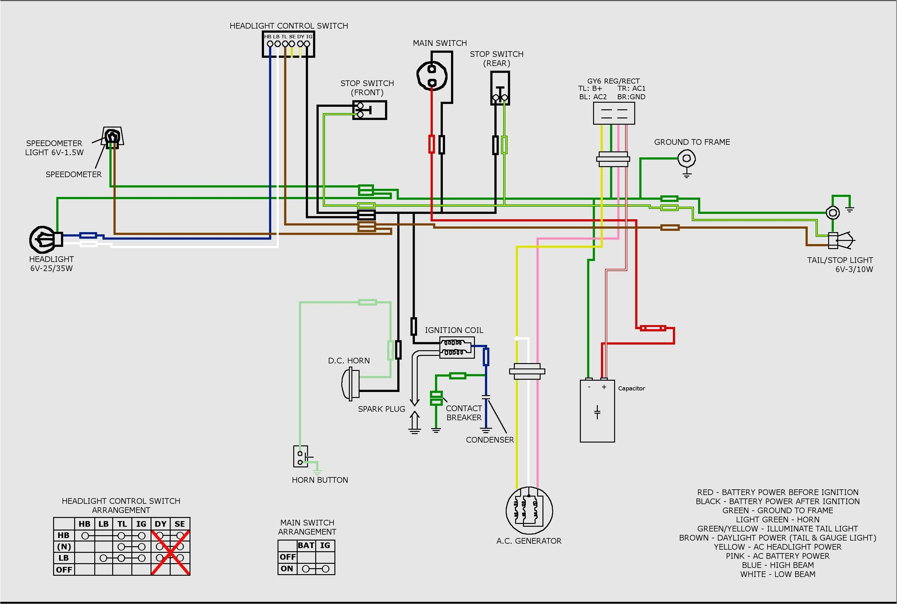 Kazuma 50cc atv Wiring Diagram 50cc Wire Diagram Wiring Diagram Name