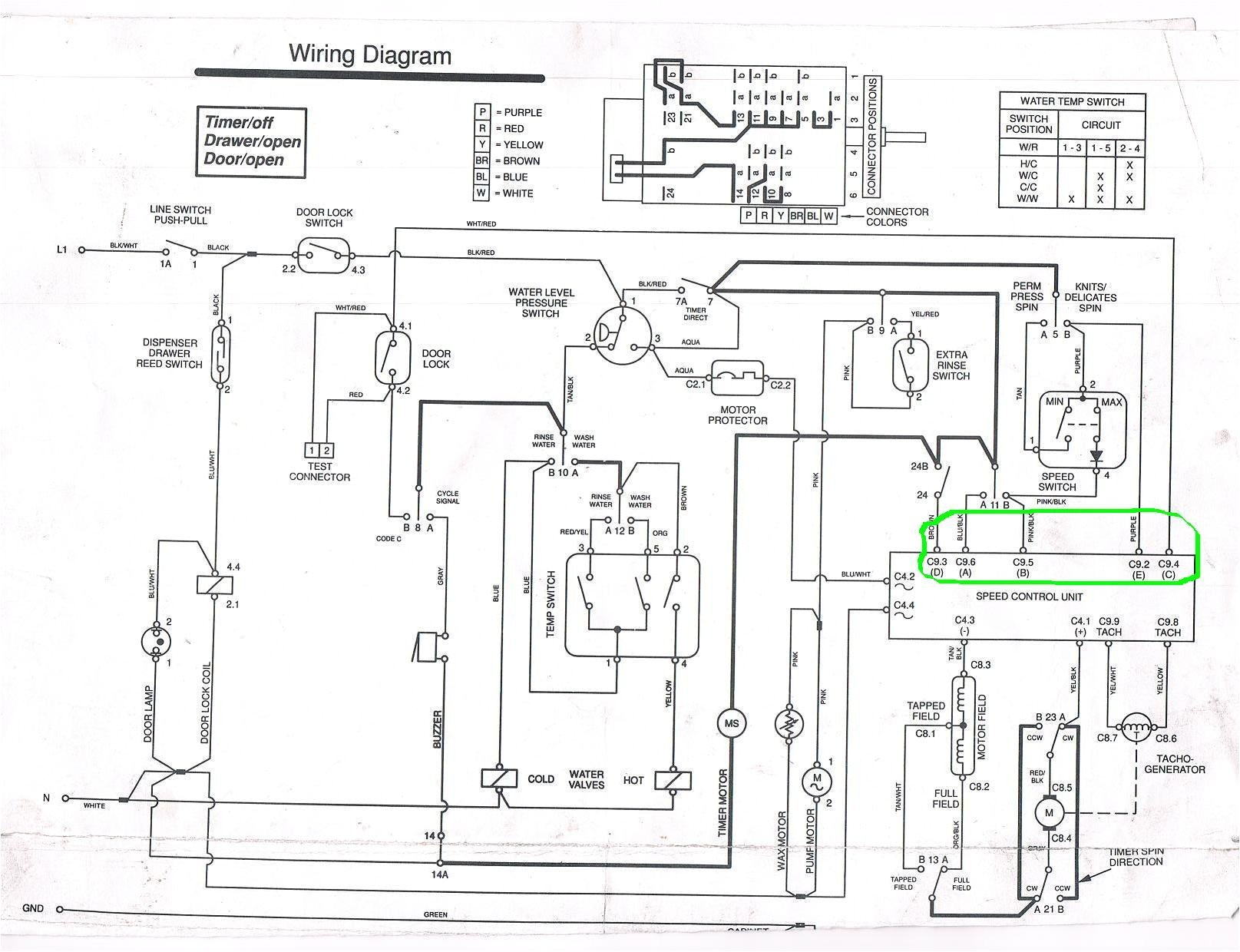 whirlpool washer motor wiring diagram