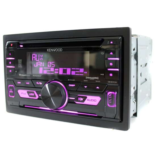 kenwood dpx502bt double din in dash cd receiver with bluetooth front usb and auxiliary inputs and siriusxm ready walmart com