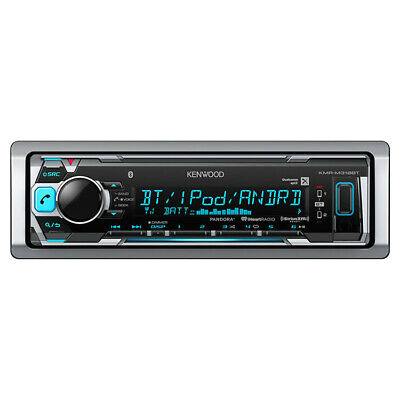 kenwood kmr m318bt digital media receiver for your boat with bluetooth