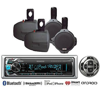 marine 8 wakeboard speakers kenwood bluetooth usb marine radio wired remote