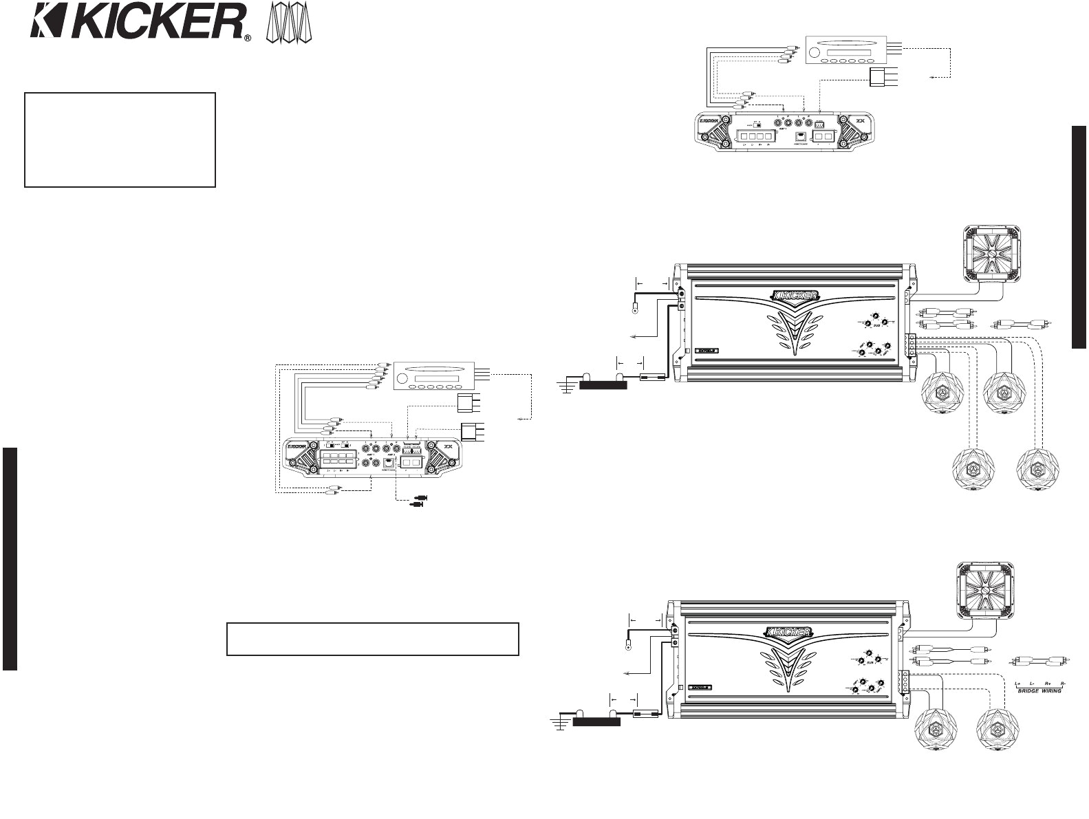 Kicker Cxa600 1 Wiring Diagram Wiring Diagram 5 Channel 13 Kicker Wiring Diagram