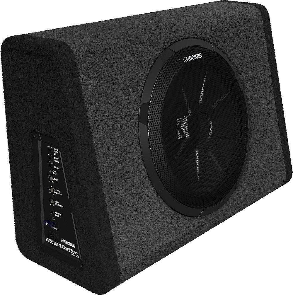 kicker 11pt10 single 10 subwoofer enclosure with 90 watt amp at crutchfield com