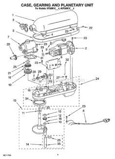 kitchenaid 4kp26m1xbs4 professional 6 qt stand mixer schematics page b baby knitting patterns floor