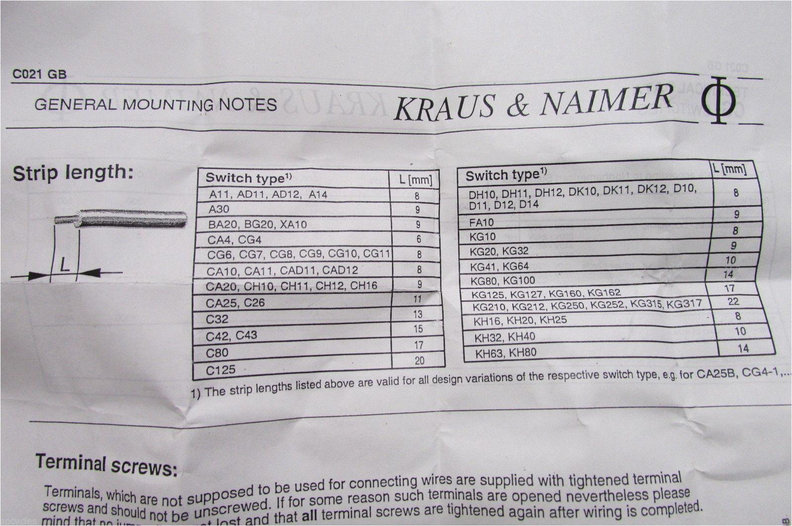 Kraus and Naimer Ca10 Wiring Diagram Krau Naimer Ca 10 Switch Wiring Diagram Wiring Library