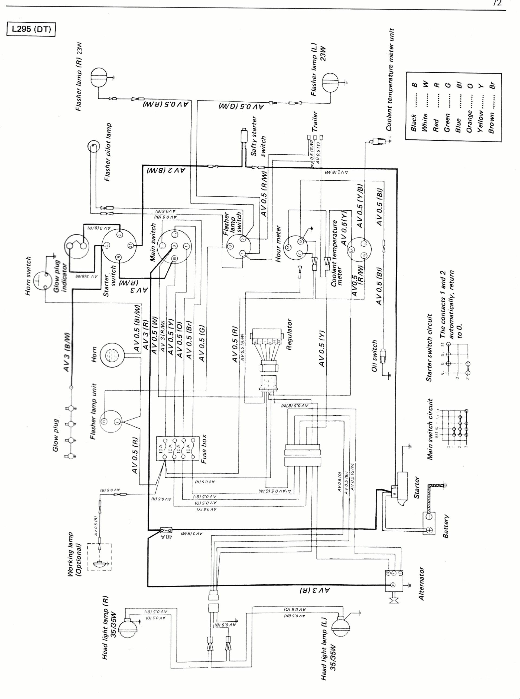 Kubota B7800 Wiring Diagram Kubota L2850 Wiring Diagram Wiring Diagram Autovehicle