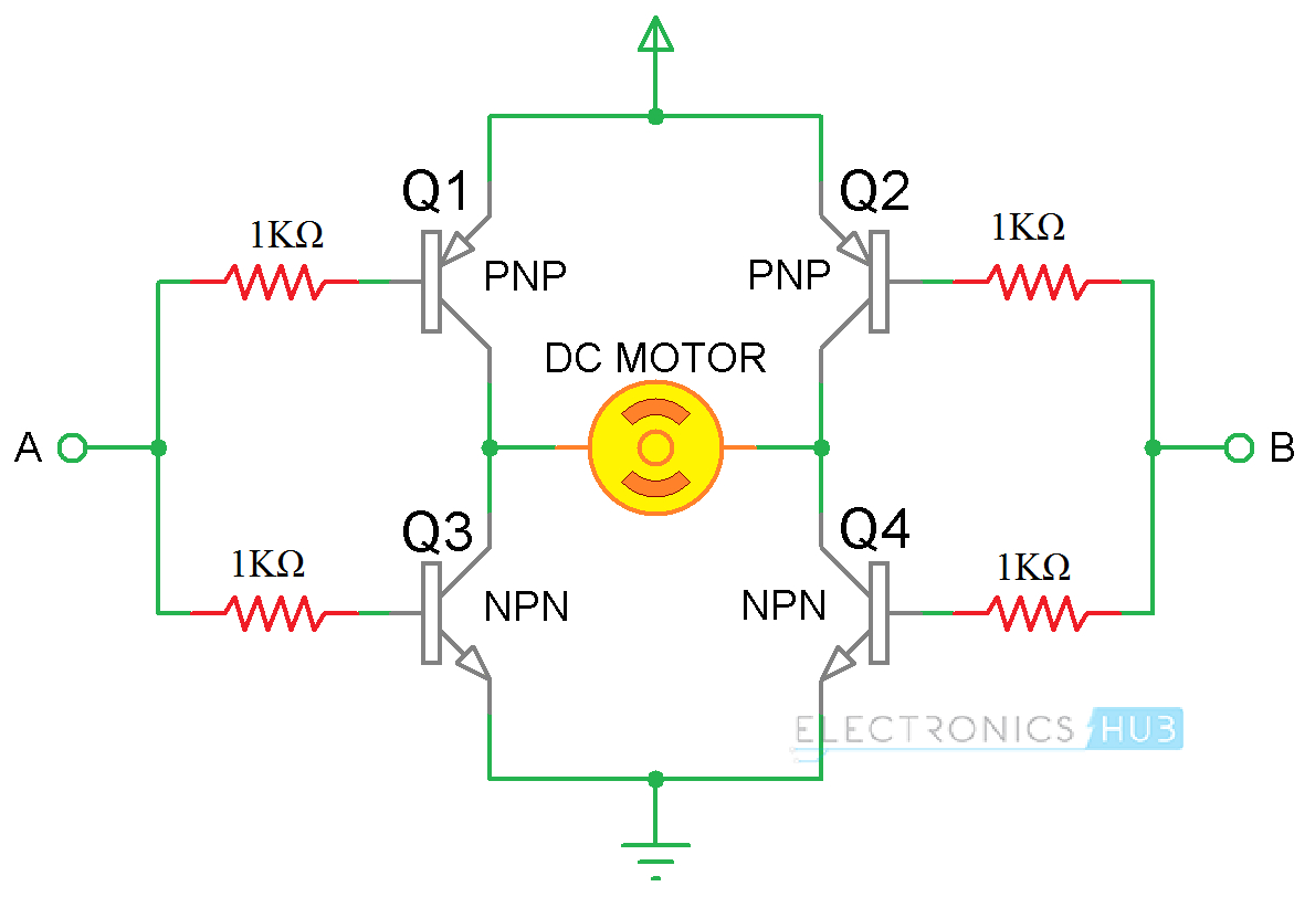 arduino dc motor control using l298n h bridge using transistors