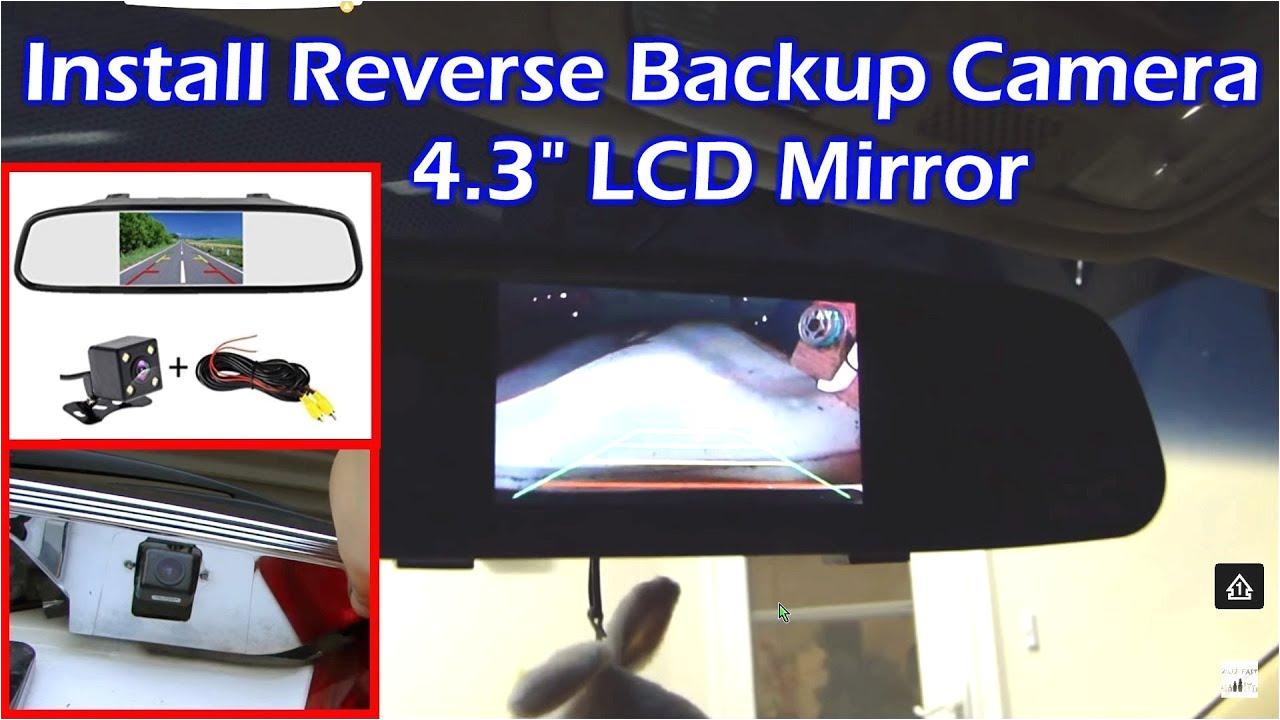 install rear view backup camera on honda odyssey